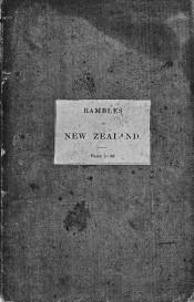 Facsimile of the front cover of Rambles in New Zealand